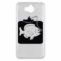 Чехол для Huawei Y5 2017 Рыба на крючке - FatLine
