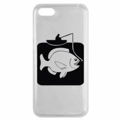 Чехол для Huawei Y5 2018 Рыба на крючке - FatLine