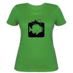 Жіноча футболка Риба на гачку - FatLine