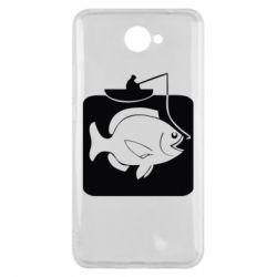 Чехол для Huawei Y7 2017 Рыба на крючке - FatLine