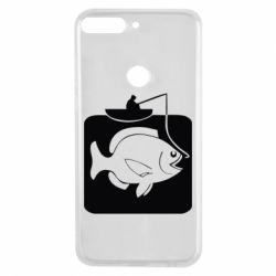 Чехол для Huawei Y7 Prime 2018 Рыба на крючке - FatLine