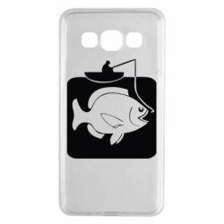 Чехол для Samsung A3 2015 Рыба на крючке