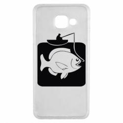 Чехол для Samsung A3 2016 Рыба на крючке