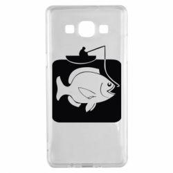 Чехол для Samsung A5 2015 Рыба на крючке