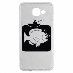 Чехол для Samsung A5 2016 Рыба на крючке