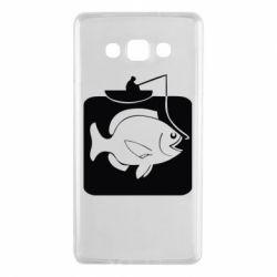 Чехол для Samsung A7 2015 Рыба на крючке