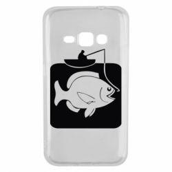 Чехол для Samsung J1 2016 Рыба на крючке