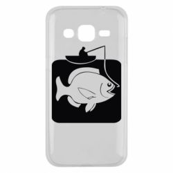 Чехол для Samsung J2 2015 Рыба на крючке