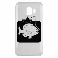 Чехол для Samsung J2 2018 Рыба на крючке