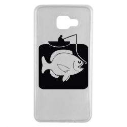Чехол для Samsung A7 2016 Рыба на крючке