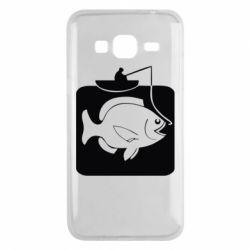 Чехол для Samsung J3 2016 Рыба на крючке
