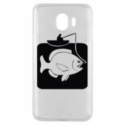 Чехол для Samsung J4 Рыба на крючке