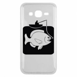 Чехол для Samsung J5 2015 Рыба на крючке
