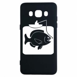 Чехол для Samsung J5 2016 Рыба на крючке