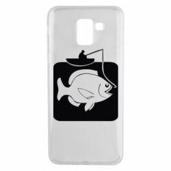 Чехол для Samsung J6 Рыба на крючке