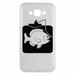 Чехол для Samsung J7 2015 Рыба на крючке