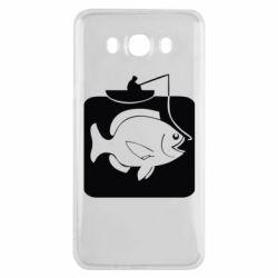 Чехол для Samsung J7 2016 Рыба на крючке
