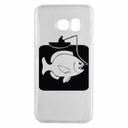 Чехол для Samsung S6 EDGE Рыба на крючке