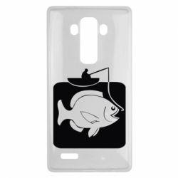 Чехол для LG G4 Рыба на крючке - FatLine