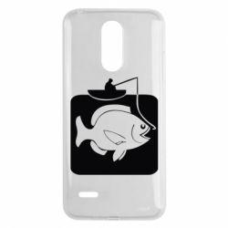 Чехол для LG K8 2017 Рыба на крючке - FatLine