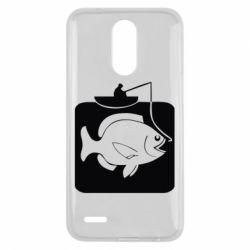 Чехол для LG K10 2017 Рыба на крючке - FatLine