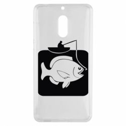 Чехол для Nokia 6 Рыба на крючке - FatLine