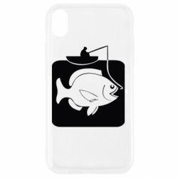 Чехол для iPhone XR Рыба на крючке