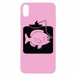 Чехол для iPhone Xs Max Рыба на крючке