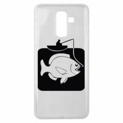 Чехол для Samsung J8 2018 Рыба на крючке