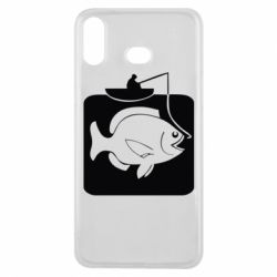 Чехол для Samsung A6s Рыба на крючке