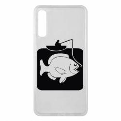 Чехол для Samsung A7 2018 Рыба на крючке