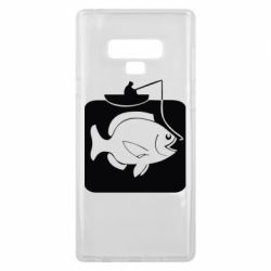 Чехол для Samsung Note 9 Рыба на крючке - FatLine