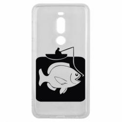 Чехол для Meizu V8 Pro Рыба на крючке - FatLine