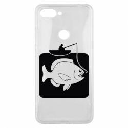 Чехол для Xiaomi Mi8 Lite Рыба на крючке