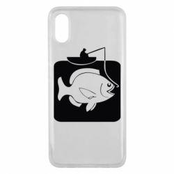 Чехол для Xiaomi Mi8 Pro Рыба на крючке