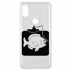 Чехол для Xiaomi Mi Mix 3 Рыба на крючке - FatLine
