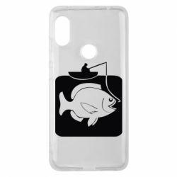Чехол для Xiaomi Redmi Note 6 Pro Рыба на крючке - FatLine