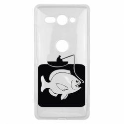 Чехол для Sony Xperia XZ2 Compact Рыба на крючке - FatLine