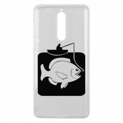 Чехол для Nokia 8 Рыба на крючке - FatLine