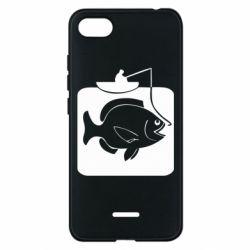 Чехол для Xiaomi Redmi 6A Рыба на крючке - FatLine