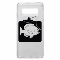 Чехол для Samsung S10+ Рыба на крючке
