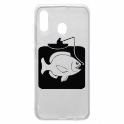 Чехол для Samsung A20 Рыба на крючке