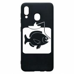 Чехол для Samsung A30 Рыба на крючке