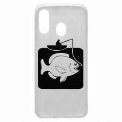 Чохол для Samsung A40 Риба на гачку