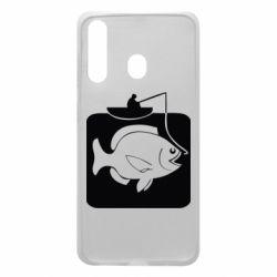 Чехол для Samsung A60 Рыба на крючке
