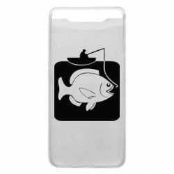 Чехол для Samsung A80 Рыба на крючке