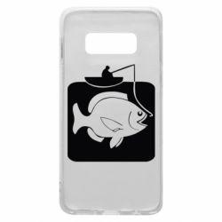 Чехол для Samsung S10e Рыба на крючке