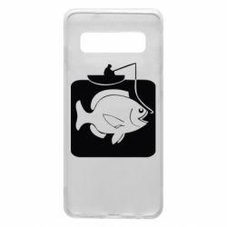 Чехол для Samsung S10 Рыба на крючке