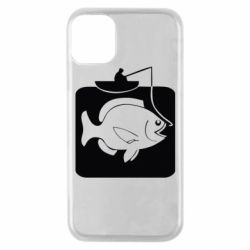 Чехол для iPhone 11 Pro Рыба на крючке