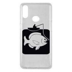 Чехол для Samsung A10s Рыба на крючке